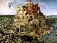 Illustration éveil aux langues (tour de Babel)
