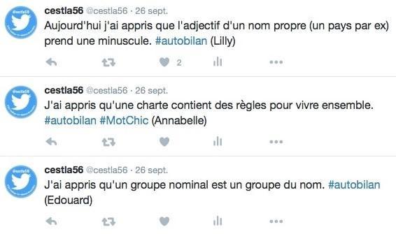 #autobilan écrit sur Twitter