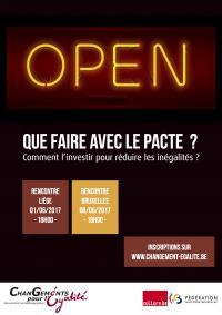 Rencontres - Que faire avec le Pacte ? - Liège & Bruxelles 1er et 6 juin 2017 -CGE