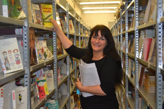 Myriam Roland : « Les enseignants peuvent emprunter jusqu'à six séries en même temps, et quatre jeux pédagogiques… »