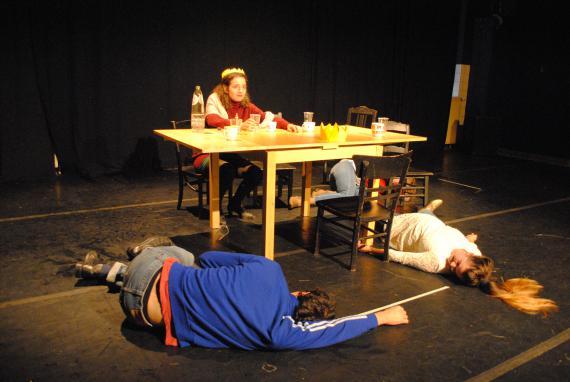La représentation ponctue tout le travail d'improvisation et de préparation.
