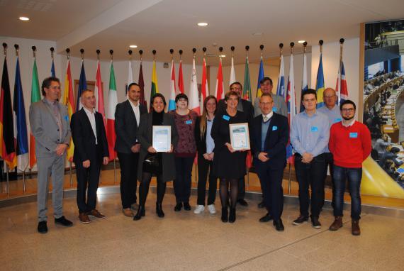 La charte Erasmus+ a été remise pour la première fois à deux opérateurs de formation très actifs dans les échanges d'étudiants en Europe.