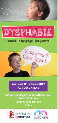 """Colloque """" Dysphasie : quand le langage Dys-joncte."""