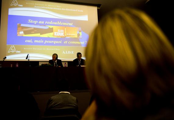 L'Association inter-réseaux des directeurs d'établissements a mis le redoublement à l'agenda de sa « Journée des directeurs », au Salon Éducation.