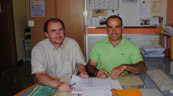 Raphaël Mincke, sous-directeur, et Aomar Boultouak, responsable « qualité » : deux maillons essentiels de l'accueil des nouveaux.