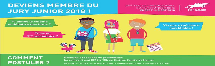 lOGO news jury junior FIFF 2018 (Festival international du film francophone-