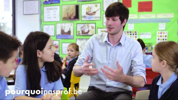 Clips vidéo et spots radio aiguillent vers www.pourquoipasprof.be, qui fait le lien avec le portail www.enseignement.be.