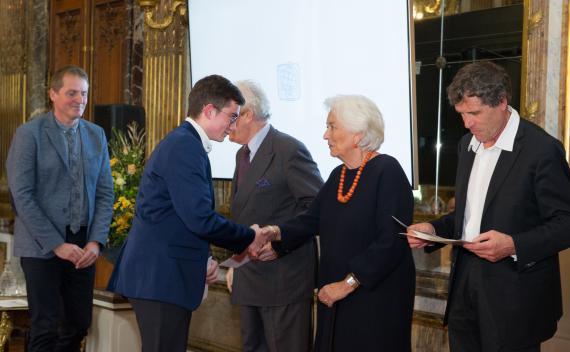 Julien Pirnay, le 9 octobre dernier, à la proclamation des Prix Terre d'Avenir 2018-2019.