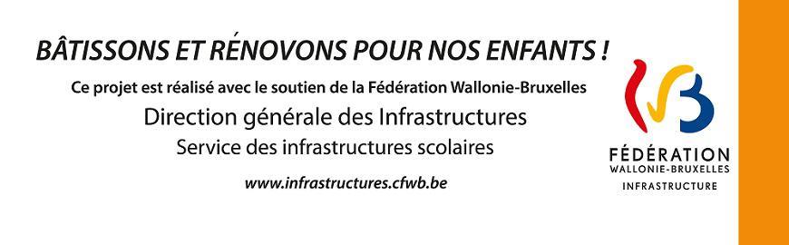 Logo de la DG des Infrastructures concernant les appels à projets pour la rénovation ou construction de bâtiments scolaires