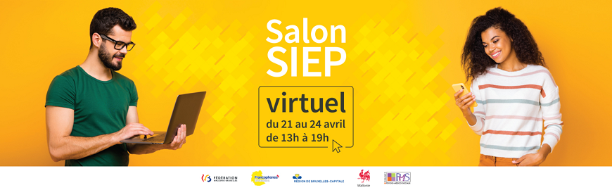 Le salon SIEP virtuel a lieu du 21 au 24 avril 2021 de 13h à 19h.
